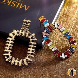 ⚜️[𝟯/$𝟯𝟴]⚜️Big Colorful Crystal Earrings New